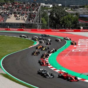 El Gran Premio de España en acción
