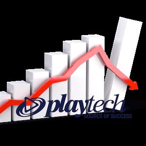 Las acciones de Playtech se hunden