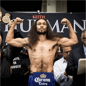 El boxeador Keith Thurman