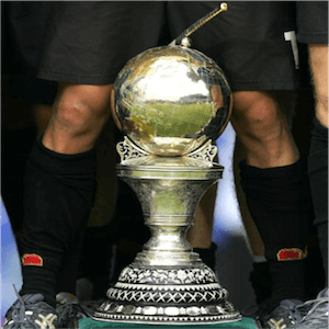 El trofeo de la Copa Mundial de Hockey