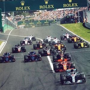 El Gran Premio de Hungría en acción