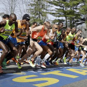 Inicio de la Maratón de Boston