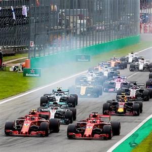 O Grand Prix italiano em ação