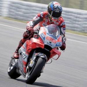 MotoGP catalán en acción