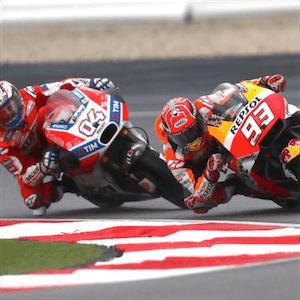 El Moto GP en acción