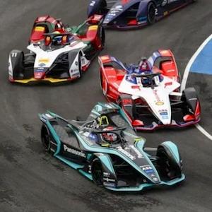 El campeonato de fórmula E de FIA en acción