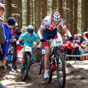Ciclistas de montaña en acción