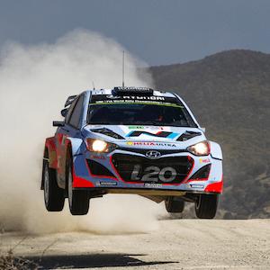 El Rally México del WRC en acción